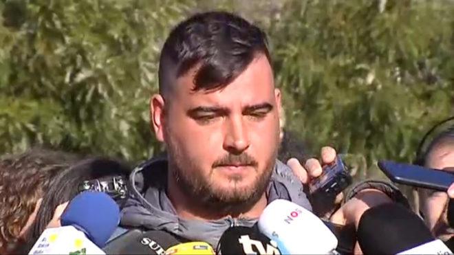 El padre de Julen, durante una intervención con periodistas en...