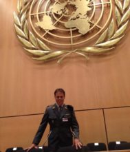 Meylan en la sede de la ONU en Ginebra en 2014. El año pasado creó la asociación 'Cataluña Pueblo de España'.