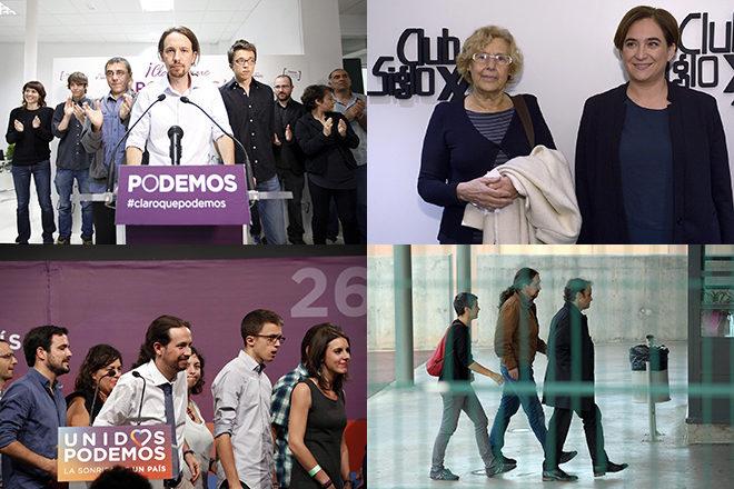Momentos icónicos de los últimos cinco años tras el nacimiento de Podemos