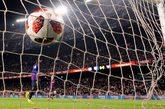 Imagen de la portería en el partido de Copa del Rey entre FC...