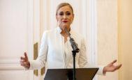 Cristina Cifuentes, el día que presentó su dimisión como presidenta de la Comunidad de Madrid.