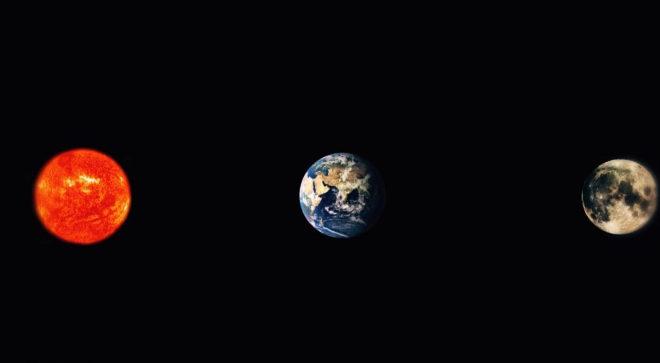 Los eclipses requieren que Sol, Tierra y Luna se encuentren en línea...