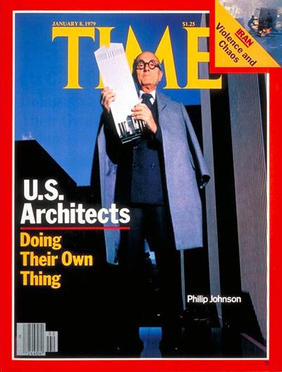 Philip Johnson, en la portada de 'Time' del 8 de enero de 1979.
