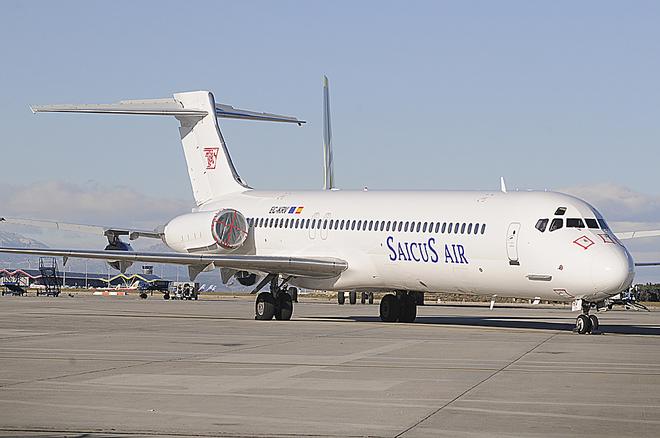 El avión abandonado en el aeropuerto de Barajas, en una imagen de 2010.