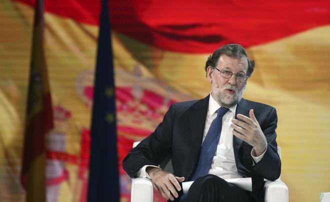 El ex presidente del Gobierno Mariano Rajoy durante la Convención Nacional del PP