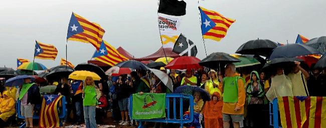 Acto de apoyo a los políticos independentistas presos celebrado en la...