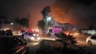 Lugar de la explosión en el municipio de Tlahuelilpan, Hidalgo,...