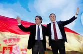 José María Aznar y Pablo Casado, durante la segunda jornada de la...