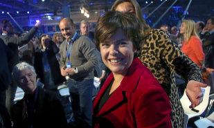 La ex vicepresidenta del Gobierno, Soraya Sáenz de Santamaría, en la...