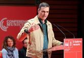 El presidente del Gobierno, Pedro Sánchez, durante su intervención...
