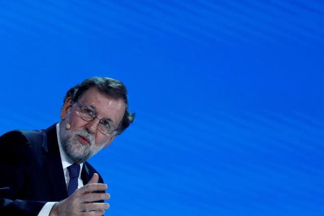 Mariano Rajoy, durante la convención del PP.