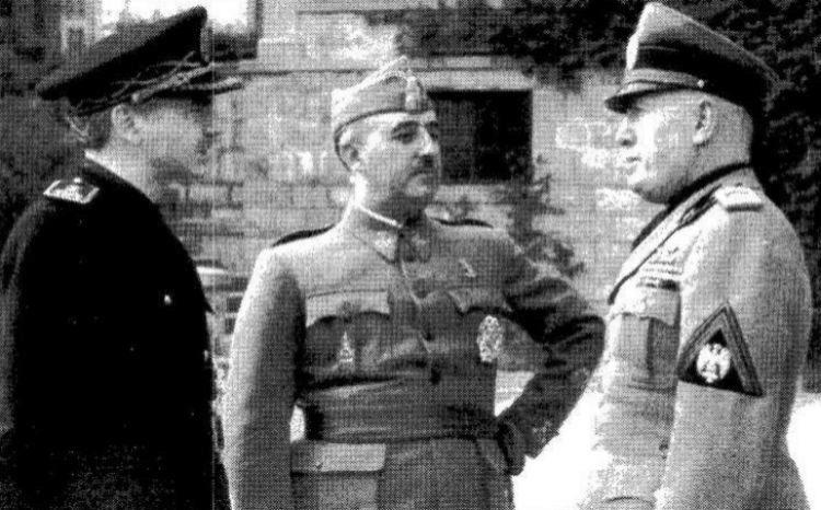 Fotografía histórica: reunión de Franco y Mussolini en Bordighera en 1941.