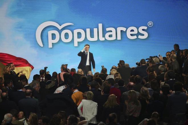 El líder del PP, Pablo Casado, en la clausura de la Convención Nacional del partido.