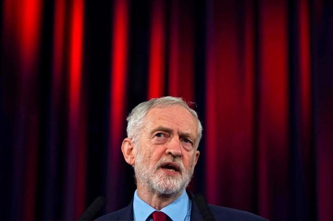 El líder del Partido Laborista británico, Jeremy Corbyn, en Hastings (Reino Unido).