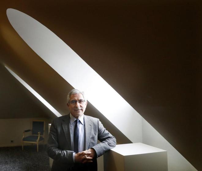 Gaspar Llamazares, en el Parlamento asturiano.