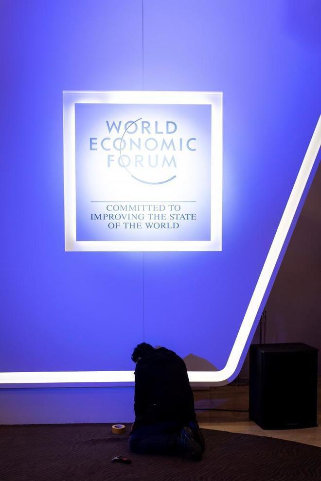 Preparativos para el 49º Foro Mundial de Davos