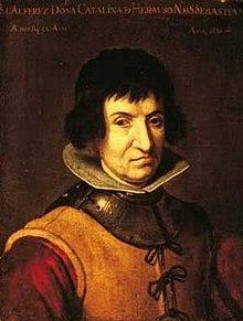 Imagen de la aventurera donostiarra Catalina de Erauso.