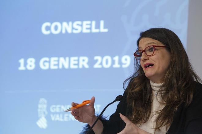 Mónica Oltra en el último Pleno del Consell.