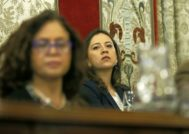La portavoz de Ciudadanos en Alicante, Yaneth Giraldo, en un pleno municipal.