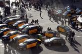 Los taxis bloquearon ayer los accesos a Barcelona en una nueva jornada...