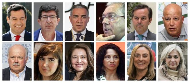 Miembros del nuevo gobierno de la Junta de Andalucía, presidido por Juan Manuel Moreno Bonilla.