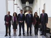 Albert Rivera, junto al vicepresidente de la Junta, Juan Marín, y los...