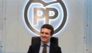 Pablo Casado, durante la reunión del Comité de Dirección del PP...