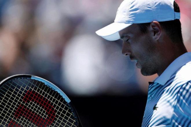 Roberto Bautista, durante su partido de los cuartos de final del Abierto de Tenis de Australia 2019 en Melbourne.
