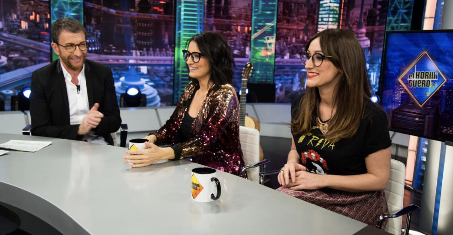 Pablo Motos, Silvia Abril y Ana Morgade en El Hormiguero