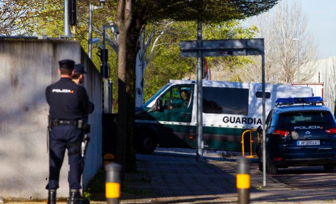 Un furgón de la Guardia Civil, en una operación.