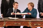 Angela Merkel y Emmanuel Macron firman un nuevo tratado en Aquisgrán.