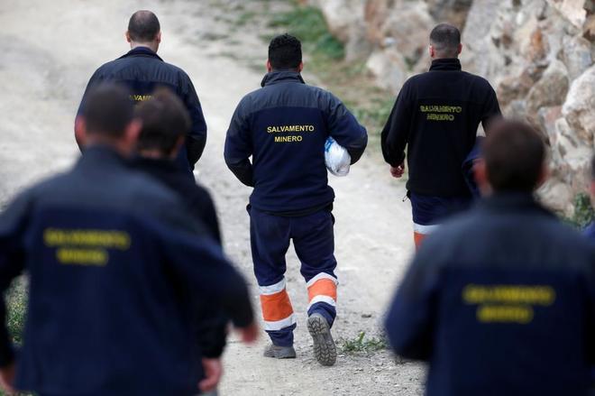 La Brigada de Salvamento Minero en el rescate de Julen del pozo de Totalán.