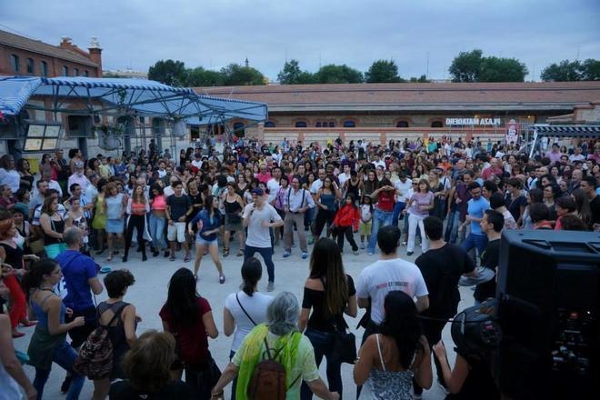 Una actividad cultural organizada por el Ayuntamiento de Madrid en el Centro Matadero de Legazpi.