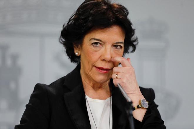 La ministra de Educación, Isabel Celaá, durante el último Consejo de Ministros