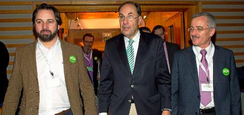 Alejo Vidal Quadras, José Antonio Ortega Lara y Santiago Abascal en...