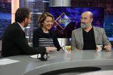 Pablo Motos junto a sus invitados, María Pujalte y Javier Cámara, en...