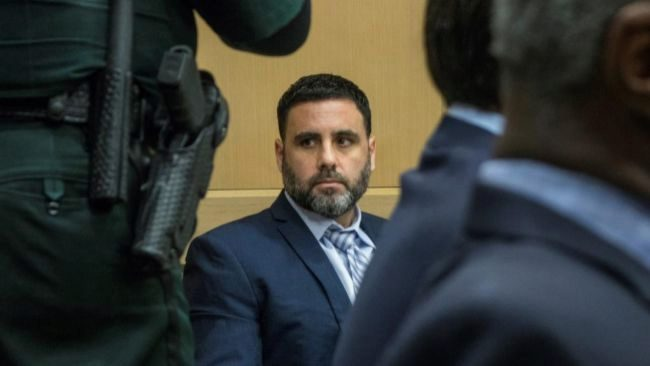 Pablo Ibar, durante la última vista del juicio en Florida, donde fue...