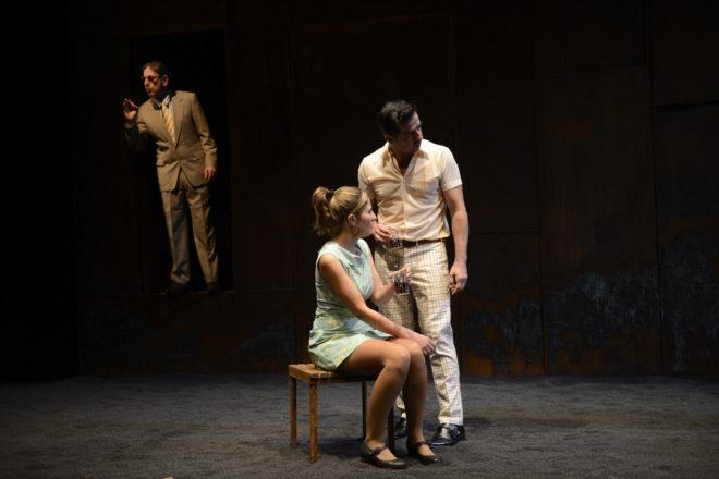 Carles Molinet, Maria Baucà y Rodo Gener durante la representación.