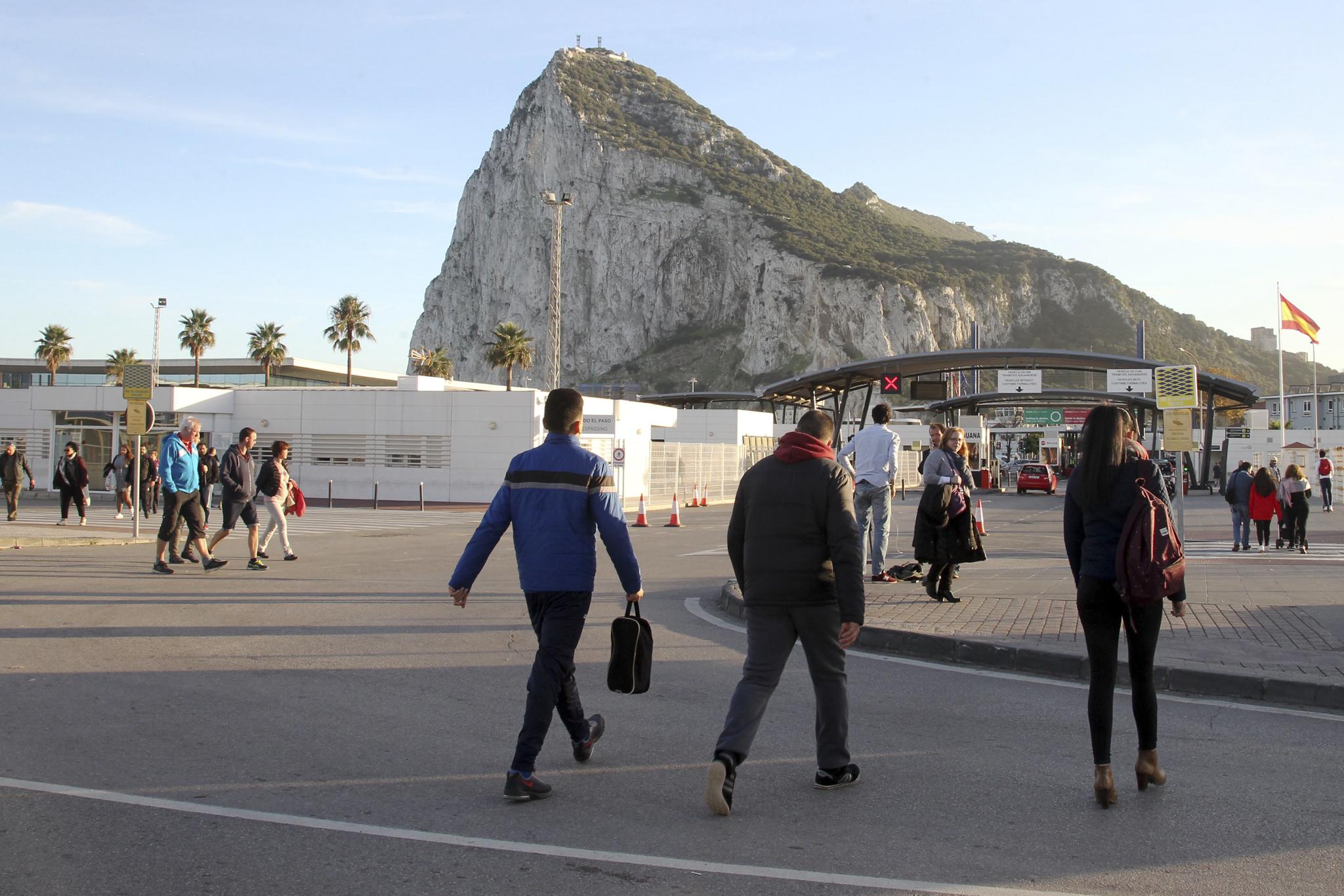 Imagen del Peñón de Gibraltar desde La Línea de la Concepción, el mes pasado.