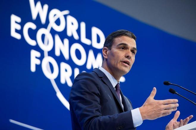 El presidente del Gobierno español, Pedro Sánchez,  en 49ª Foro Económico Mundial de Davos (Suiza).