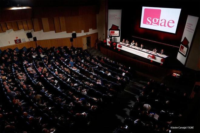 La última asamblea de la SGAE, en Madrid, el 27 de diciembre pasado.