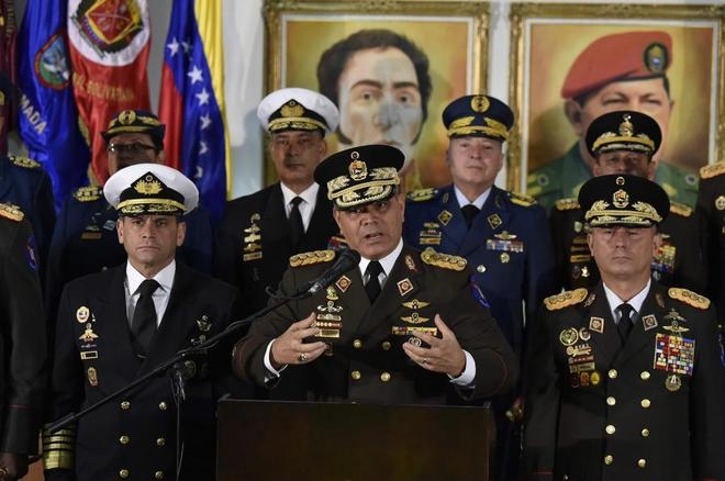 El ministro de Defensa venezolano Vladimir Padrino López, este jueves en Caracas.