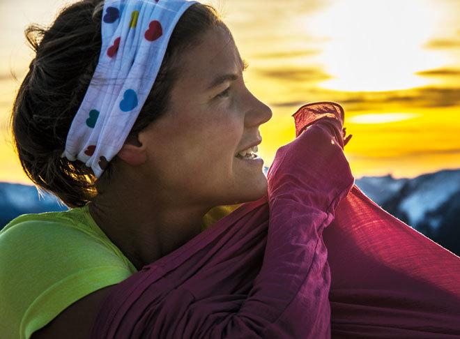 """Emelie Forsberg, autora del libro """"Correr y vivir. Encuentra la fuerza, el equilibrio y la felicidad""""."""
