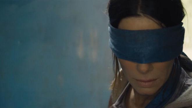Sandra Bullock, en la película 'Bird Box'.