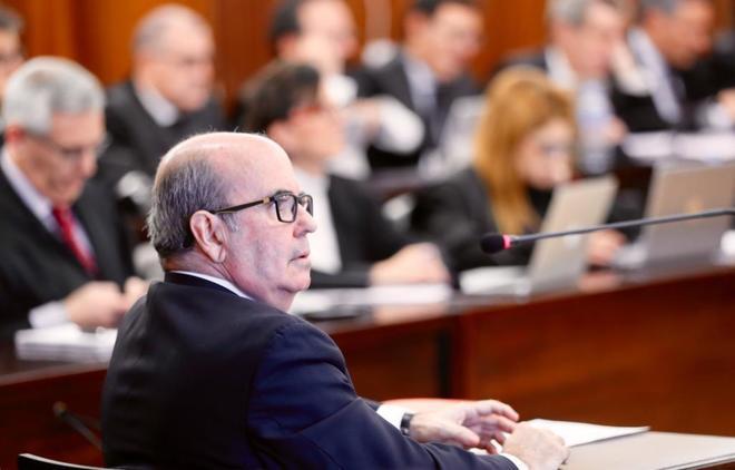 El ex vicepresidente de la Junta y ex consejero, Gaspas Zarrías, en el juicio.