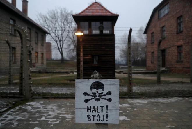 Campo de exterminio nazi en Auschwitz-Birkenau.