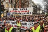 Manifestación celebrada la pasada semana en Bilbao para exigir una...