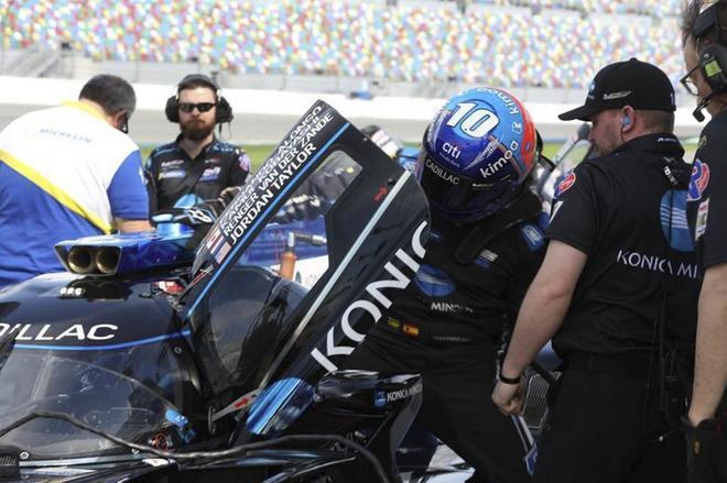 Fernando Alonso, durante la preparación de las 24 Horas de Daytona.