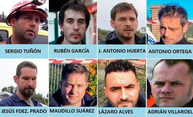 Imagen de los ocho mineros que están trabajando en el rescate de...