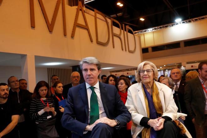 Manuela Carmena y Ángel Garrido, este viernes en Fitur.